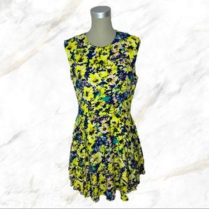 H&M | Yellow Floral Mini Dress